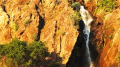 Wangi waterfalls vertical pan Stock Footage