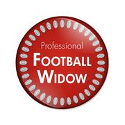 Professional Football Widow Button Stock Illustration