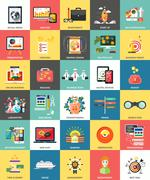 Set of business concepts icons - stock illustration