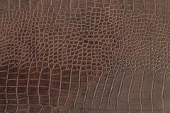 Brown crocodile leather texture background - stock photo
