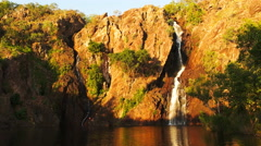 Wangi waterfalls Stock Footage