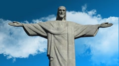 Time lapse of Christ the Redeemer Statue 02 Stock Footage