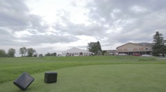 Golf course timelapse Stock Footage