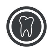 Stock Illustration of Round black tooth sign