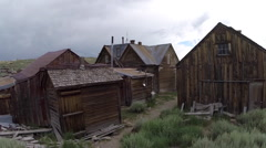 Bodie Ghost Town Wild West Architecture Stock Footage
