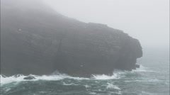 AERIAL Ireland-Rough And Rocky Coast Of Kerry Stock Footage