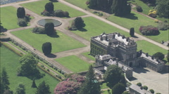 AERIAL Ireland-Curraghmore House And Garden Stock Footage