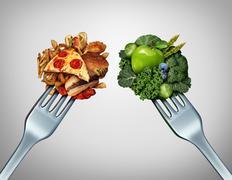 Diet Struggle - stock illustration