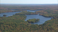 AERIAL United States-Otis Reservoir Stock Footage