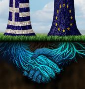 Greek Europe Agreement - stock illustration
