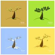 Stock Illustration of Vector illustration of 4 season