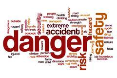 Danger word cloud concept Stock Photos
