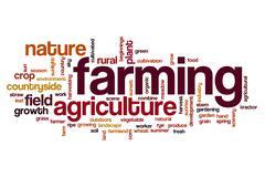 Farming word cloud concept - stock photo