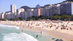 Copacabana Beach - Rio de Janeiro - stock footage