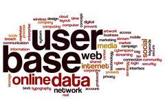 User base word cloud concept Stock Photos