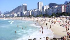 Copacabana Beach - Rio de Janeiro Stock Footage