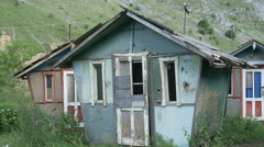 Dilapidated Houses Stock Footage