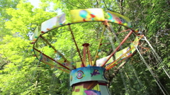Work carousel, the upper part of the carousel Stock Footage