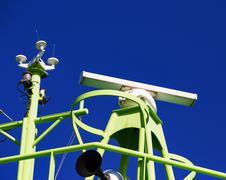 Shipborne Radar System - stock photo