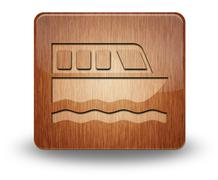 Icon, Button, Pictogram Boat Tour - stock illustration