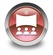 Icon, Button, Pictogram Cinema - stock illustration