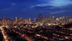 San Francisco Skyline at Night Timelapse - stock footage