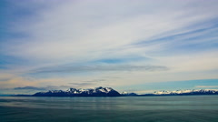 Time-lapse from a cruise ship in Prince William Sound, Alaska. Stock Footage