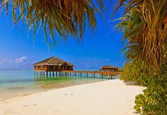 Spa saloon on Maldives island Stock Photos