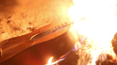 Burning Guitar Stock Footage