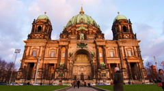 The Berliner Dom - stock footage