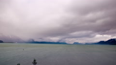 Time-lapse of storm clouds moving over the Gulf of Alaska. Stock Footage