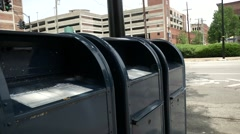 U.S Postal Service Mailbox Steadicam Shot Stock Footage