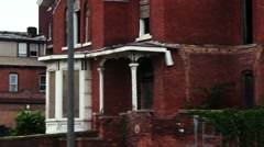Abandoned and Desolate view of America - Detroit Michigan - stock footage