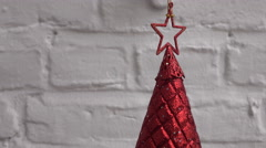 Little christmastree red Stock Footage