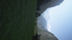 Static shot of green valley in Switzerland. Stock Footage