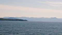 Traveling time-lapse cruising the Inside Passage in Alaska. Stock Footage