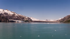 Time-lapse moving through Glacier Bay, Alaska on a cruise ship. Stock Footage
