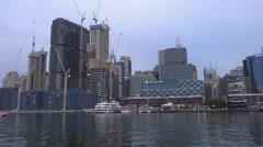 Darling Harbour, Sydney Timelapse 4k Stock Footage
