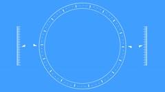 Futuristic Spinning Wheel And Bar Indicators Stock Footage