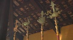 Interior at the Giac Vien Pagoda in Ho Chi Minh City, Vietnam Stock Footage