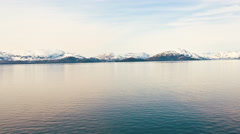 Traveling time-lapse from a cruise ship in Prince William Sound, Alaska. Stock Footage