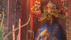 Statue at the Thien Hau Thanh Mau Temple in Ho Chi Minh City, Vietnam Stock Footage