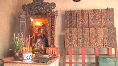 Statue at the Thien Hau Pagoda in Ho Chi Minh City, Vietnam Stock Footage