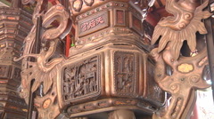 Altar at the Thien Hau Temple in Ho Chi Minh City, Vietnam Stock Footage