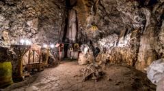 Agia Fotini Cave - Crete, Greece Stock Footage