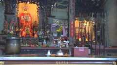 Altar of Thien Hau at the Thien Hau Temple in Ho Chi Minh City, Vietnam Stock Footage