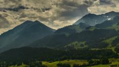 Berner Oberland mountain landscape time lapse - stock footage