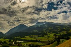 Berner Oberland farms and fields Swiss alpine meadows time lapse 6K - stock footage