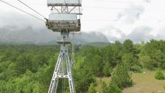 View of Mount Ai-Petri from the cabin cableway. Stock Footage