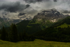 Les Diablerets mountain peak alpine meadow Switzerland 6K Stock Footage